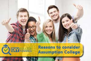 students happy about assumption college