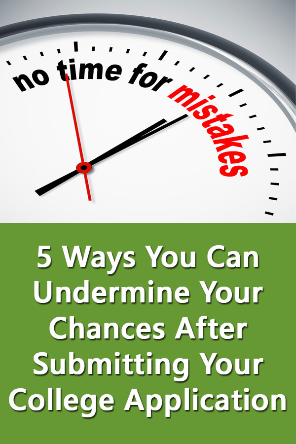 Even after completing all the college Applications and submitting test scores, there are five things high school seniors can do to ruin their chances of attending college in September. #CollegeAdmissions