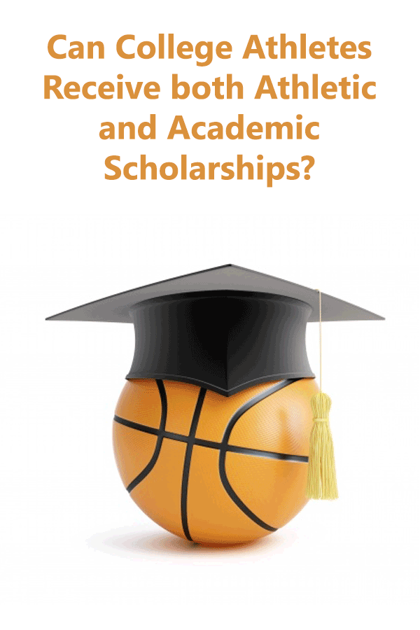 Explains NCAA rules on how college athletes can get both athletic and academic scholarships. #GetRecruited