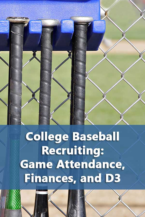 College baseball attendance stats, finance resources, and D3 information to help with college baseball recruiting. #GetRecruited