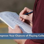person keeping scorebook representing ways to improve your chances of playing college baseball