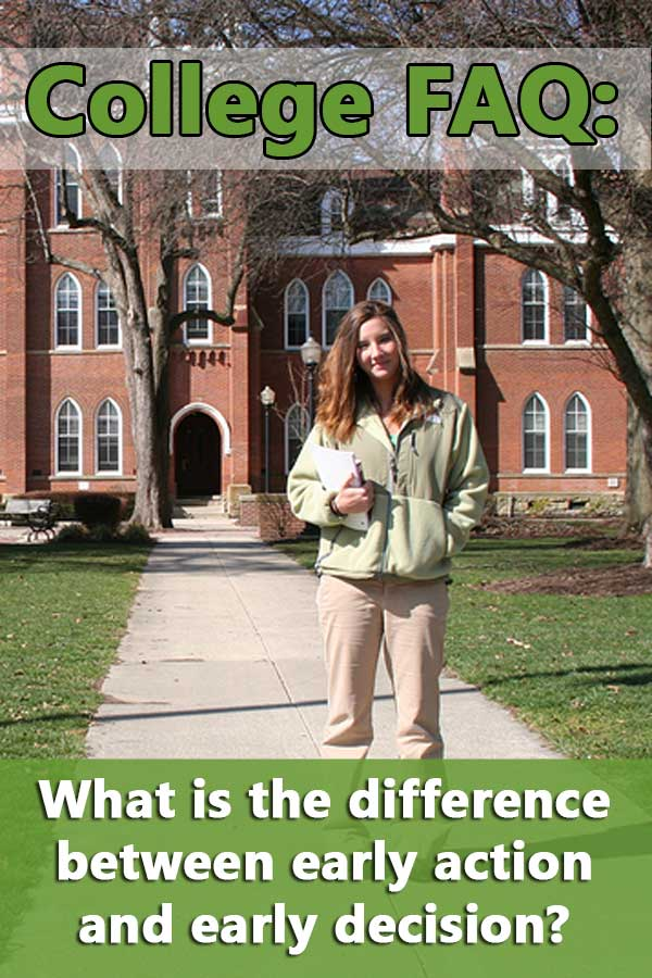 Early decision vs early action: what's the difference in college admissions? One can cost you money while the other can save you money. #CollegeAdmissions
