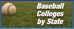 Baseball on filed for text Baseball colleges by state