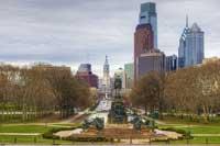 Philadelphia skyline representing colleges in Philadelphia