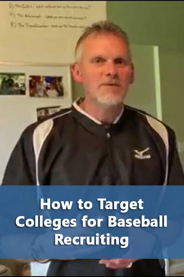 To target colleges, both parents and son need to research colleges. The FACTS method will walk you through to find the colleges where the coaches will recruit you.