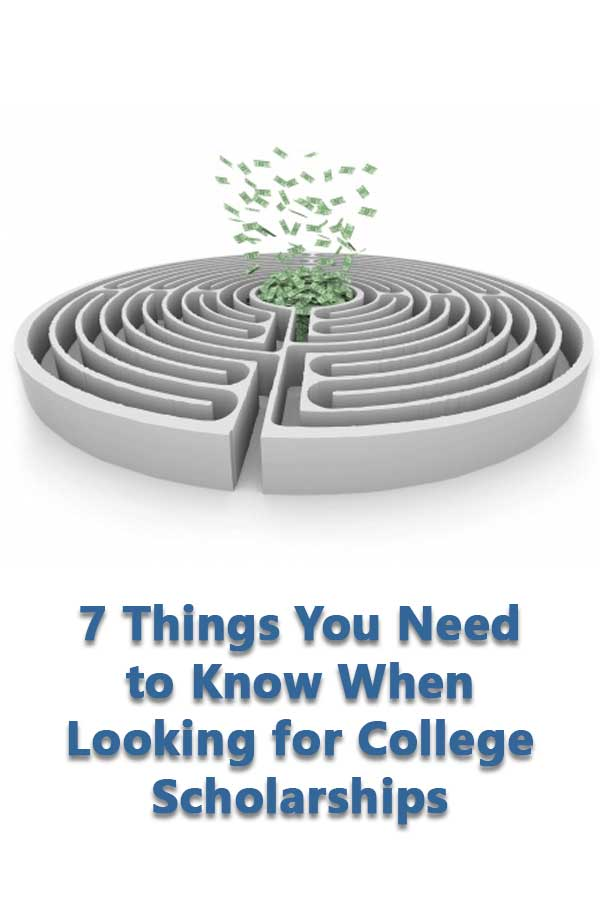 How to find scholarships to help pay for college and what to watch out for using scholarship search websites. #CollegeAdmissions